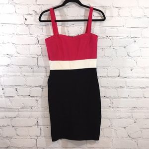 UEC Bebe color block bandage dress size large